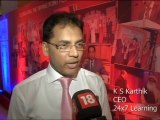 KS Karthik, CEO - 24x7 Learning & AVAGMAH Online School @ CNBC TV18 Emerging India Awards, July 2013