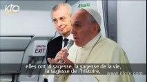 Discours du Pape François dans l'avion pour les JMJ