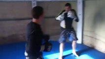 entrainement/ technique/grapling/lutte /boxe pied poing