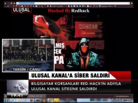 Yandaş hackerlar RedHac'in adıyla Ulusal Kanal sitesine saldırdı