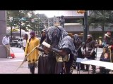 Hebrew Israelites blowing the trumpet at the Trayvon Martin March in Charlotte,NC pt 3