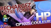 Comment bien recharger les cartouches toner HP CP1025 Laserjet Color