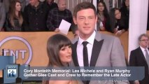 Cory Monteith Memorial: Lea Michele and Ryan Murphy Gather Glee Cast and Crew to Remember the Late Actor
