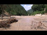 Massive amounts of silt in the river: Near Silli
