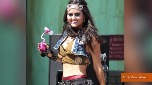 Danica McKellar of 'The Wonder Years' Shows Off Abs For Avril Lavigne