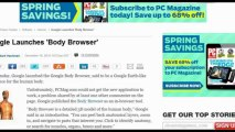 Get Online Body Browser-3D by Google to Map Human Anatomy, nice for medical students