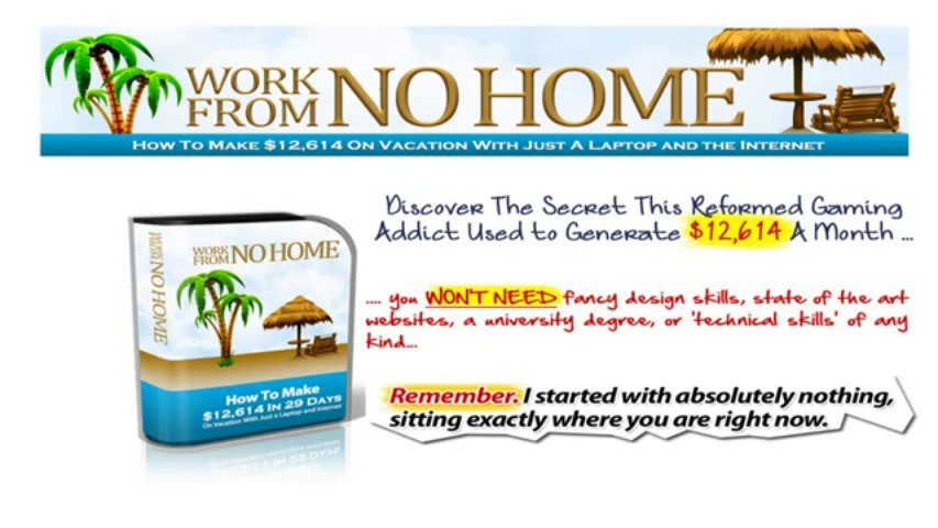 """Online Marketing Course """"Work From No Home"""" Online Marketing Course"""
