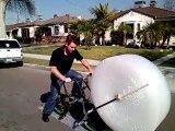 Le vélo à papier bulle
