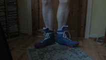 Lonsdale Twist boxing boots in blue