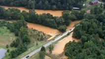 Heavy rain submerges homes and roads in North Carolina