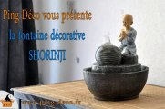 Fontaine décorative zen jeune moine bouddhiste SHORINJI (WWW.PING-DECO.FR)