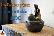 Fontaine décorative d'intérieur bouddha HOTOKE WWW.PING-DECO.FR