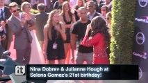 Nina Dobrev & Julianne Hough at Selena Gomez's 21st birthday!