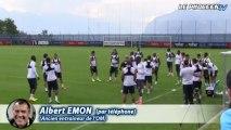 Albert Emon et les matchs amicaux de préparation