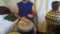 3 Djembes Tested by Michael P: Cow Skin, Mule Skin and Goat Skin Wood Djembes Demo