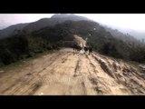Heavily damaged road from Guptkashi to Devprayag