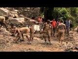 Dera Sachha Sauda workers work hard to retain road connectivity