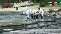 Une marée noire souille une île touristique en Thaïlande