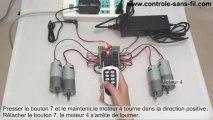 Comment Utiliser Kit Commande Radio 8 Canaux Pour Contrôler les 4 Moteurs CC
