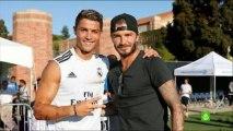 Beckham welcomes Zidane and Cristiano Ronaldo Xabi Kaka in Los Angeles