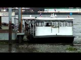 Boat on the Chao Phraya river which flows through Bangkok
