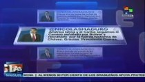 Presidente Maduro agradece homenaje a Hugo Chávez en Ecuador