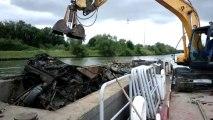 Nettoyage du canal des mines de fer de Moselle