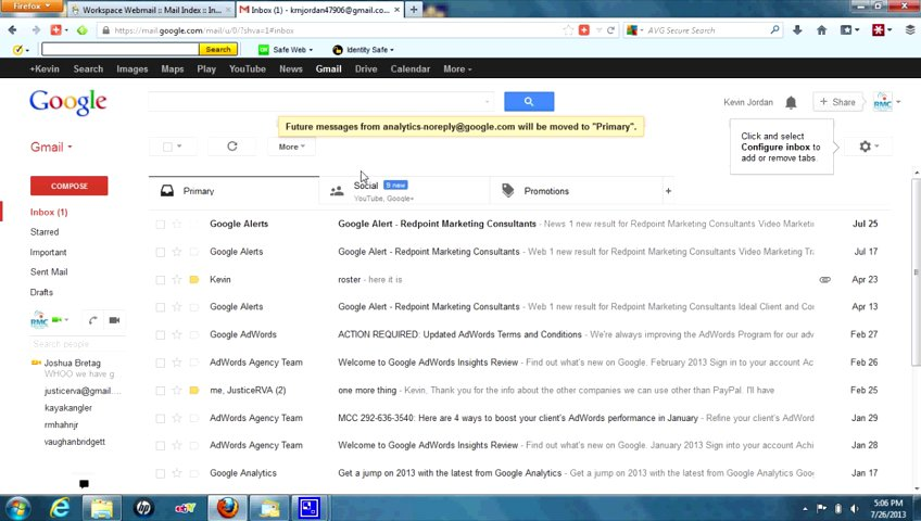 Gmail Promotions Tab — moving emails from promotions tab