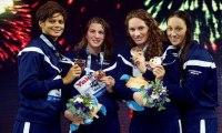 Mondiaux de natation : les Françaises médaillées de bronze du relais 4x200m