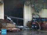 Incendie au centre technique municipal de Troyes