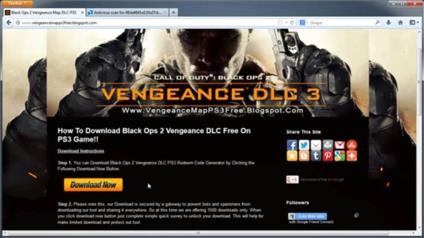 Call of Duty: Black Ops 2 Vengeance Map Pack PS3 DLC Codes - Free!!