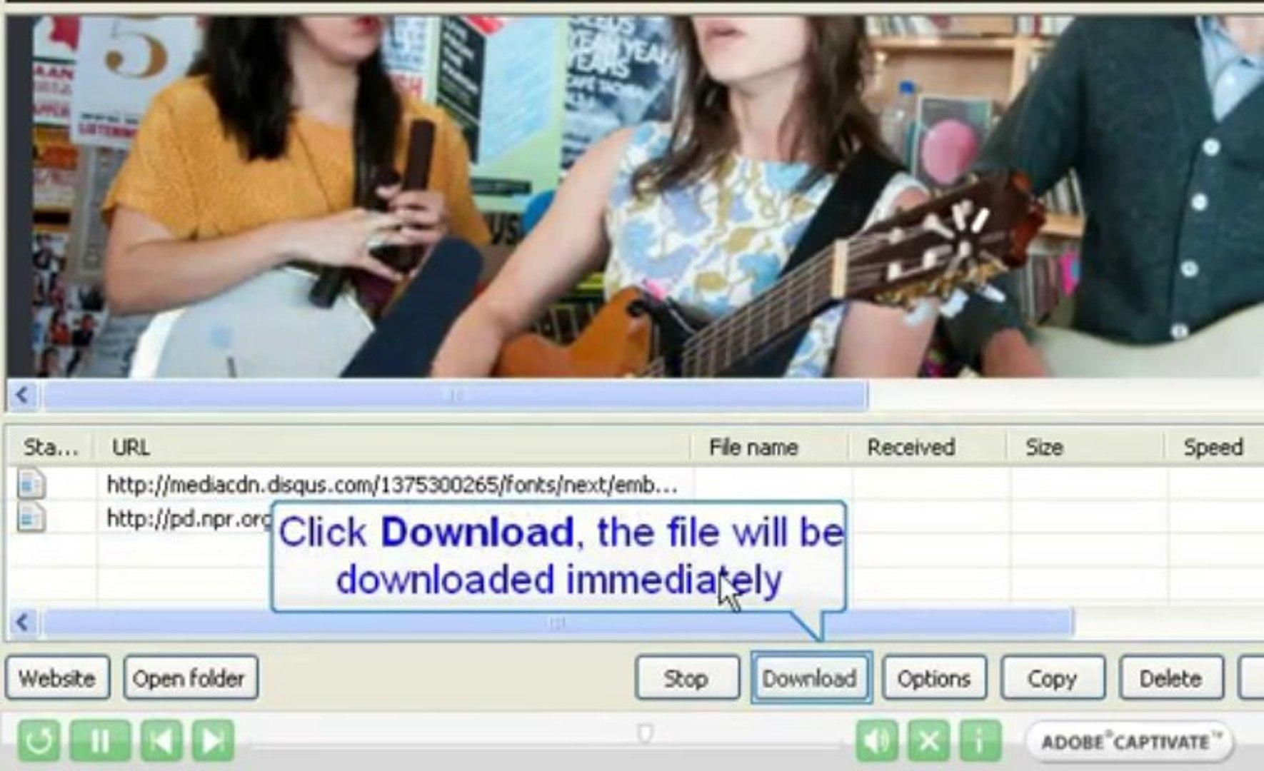 NPR music and NPR radio Download by using uDownloader