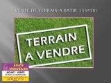 VENTE TERRAIN A BATIR CONSTRUCTIBLE 33430 BAZAS GIRONDE