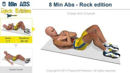 8 Mins Abs Workout – Rock Style
