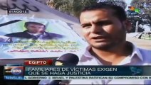 Egipto: Familiares de víctimas de represión policial exigen justicia