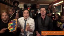 Jimmy Fallon Plays Robin Thicke's 'Blurred Lines' With Kids' Instruments