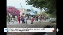 Suicide bomber kills self, other bomber and 8 passersby in Afghanistan