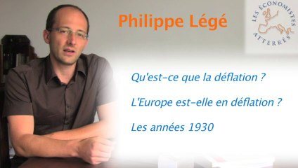 Abcdaire atterrés - DEFLATION par Philippe Légé