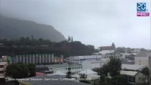 Cyclone Dumile à la Réunion: images de Saint-Denis