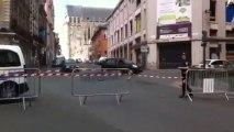 Tournage de la série Marc Saint-Georges à Saint-Quentin. La rue d'isle bloquée jusqu'à 16 heures.