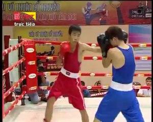 Trận 1- Võ sĩ Trần Đặng Thịnh (Quãng Ngãi) -- Võ sĩ Lê Đức Phú (Bình Định) - YouTube