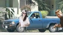 Robert Pattinson SPOTTED At Kristen Stewart's House - Robert Pattinson VIsit Kristen Stewart