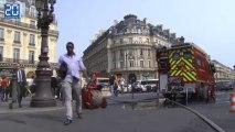 Intervention des pompiers à Opéra