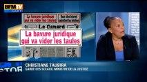 """Détenus libérés: Christiane Taubira parle de """"faute juridique"""" -  07/08"""