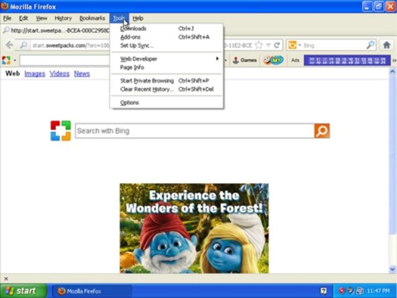 Get Rid of start.sweetpacks.com virus/ Search.sweetpacks.com virus