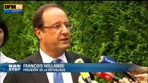"""François Hollande: """"Le seul sujet qui compte pour les Français, c'est l'emploi"""" - 08/08"""