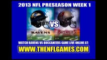 Watch Buccaneers vs Ravens Live Stream August 8, 2013