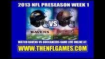 Watch Buccaneers vs Ravens NFL Live Stream 8/8/2013