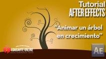 Animar el crecimiento de un arbol - Tutorial After Effects