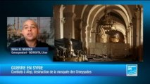 Victime des combats, le minaret de la Grande mosquée d'Alep s'effrondre